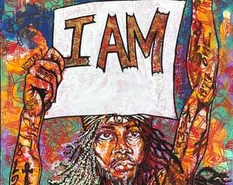 """I AM #3 11""""17"""" print"""