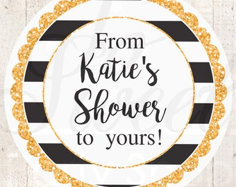 Bridal Shower Favors, Sticker Labels, Wedding Favors, Bachelorette Favors, From My Shower To Yours Favors, Thank You Stickers - Set of 24