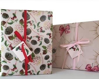 "Christmas Fairy Gift Wrap Kit Pink Red  ""Sugar Plum Fairy"" For Girls"