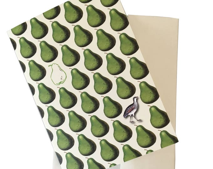 Christmas no longer available! Don't miss the Spring Collection coming soon! Partridge and Pear Christmas Card