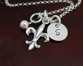 The Fleur de Lis Necklace | Sterling Silver Personalized Jewelry