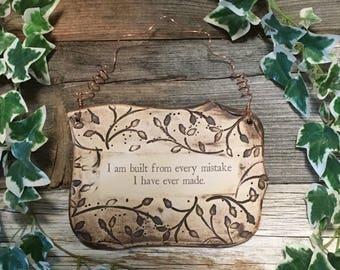 Handmade Inspirational Statement Ceramic Plaque