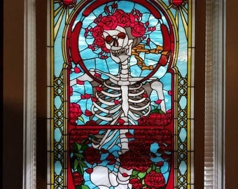 Grateful Dead Bertha Stained Glass Window