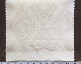 Custom Curtains Valance Roman Shade Shower Curtains in Ivory Diamond Pattern Fabric