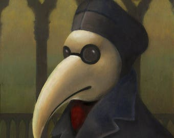 Venetian Plague Doctor - Steampunk Portrait, Gothic, Bird Mask, Commedia dell'Arte, Black Death,  Medieval, Bubonic Plague, Gothic Art