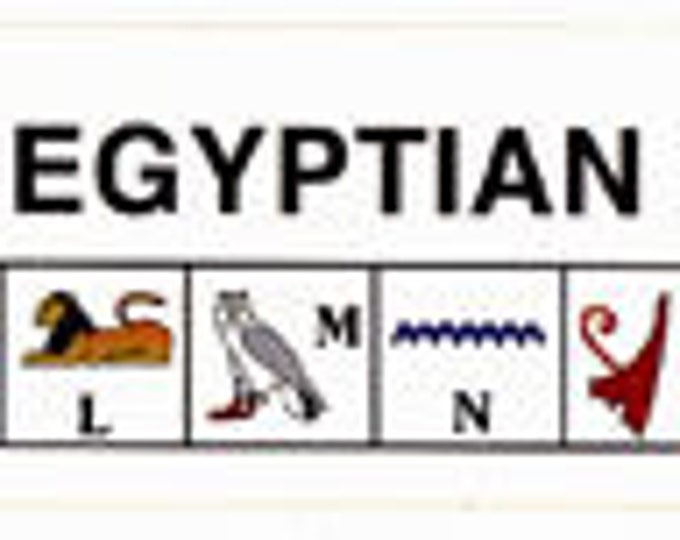 Egyptian Alphabet and Number stickers! Learn to ready hieroglphics and numbers in Ancient Egyptian. SOLD IN DOZENS! Great activity for kids