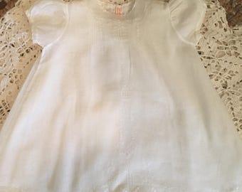 Vintage Baby Dress, Petticoat, Cotton, Doll Dress