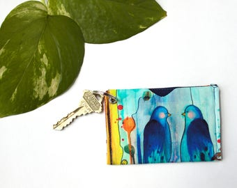 Student ID Holder Wallet, Card Holder Keychain, Back to School Gift, Colorful Keychain, Minimalist Card Sleeve, Slim Credit Card Holder