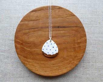 Polka Dot Rain Drop Necklace