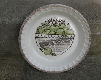 royal china apple pie deep dish plate jeannette glass country harvest ironstone rustic country farmhouse