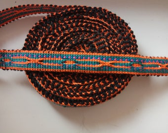 Uzbek handwoven cotton trim Jiyak. Tribal ethnic, boho, hippy trim. NTR028