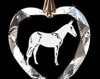 Mule Custom Made Crystal Necklace Pendant Jewelry with any Animal or Name YOU Want, Great gift 4H, FFA, Horse Lover, Rodeo, Western, Donkey