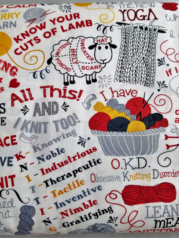 knitters fabric yarn knitting words knitting needles fabric