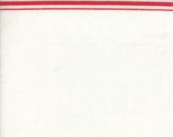 "16"" Toweling - Red Border"