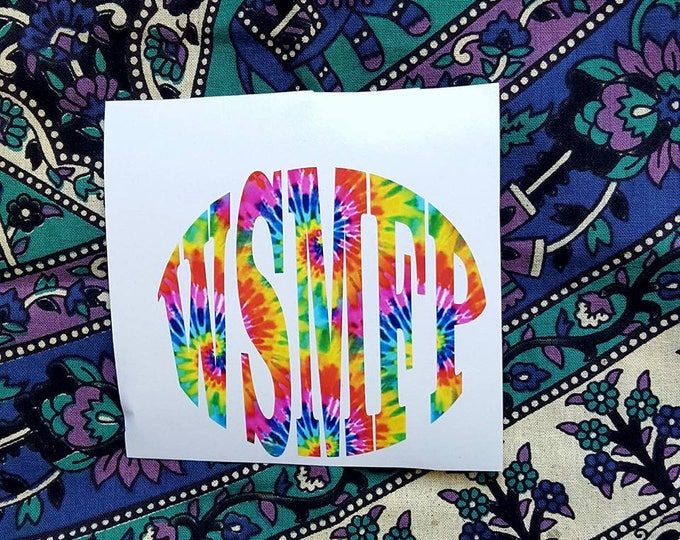 Widespread Panic Tie Dyed Vinyl WSMFP Sticker Decal Logo Original littlehippiechick design Jam Band Stickers