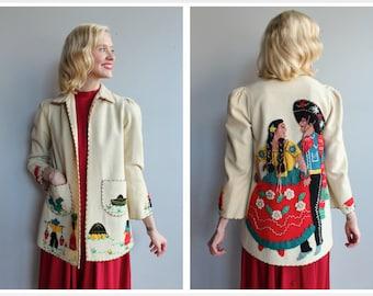 1940s Jacket // La Mexicana Tourist Jacket // vintage 40s jacket