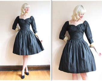 1950s Dress // Life of the Party Suzy Perette Dress // vintage 50s dress