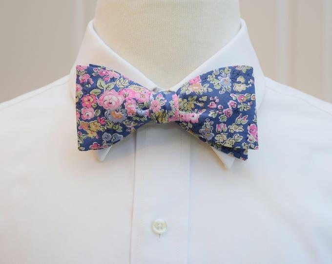 Men's Bow Tie, Liberty of London, lavender/pink/sage floral Tatum print bow tie, groomsmen/groom bow tie, wedding bow tie, tux accessory