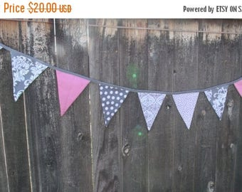 Summer sale Fabric Banner - Holiday Banner - Baby Banner - Birthday Banner - Fall Banner  Pennant Banner - pennant - banner - photo prop
