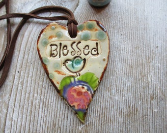 Blessed Essential Oil Diffuser Pendant  Turquoise Bird Aromatherapy Heart Pendant