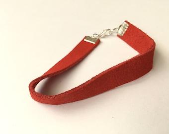 Red Suede Bracelet