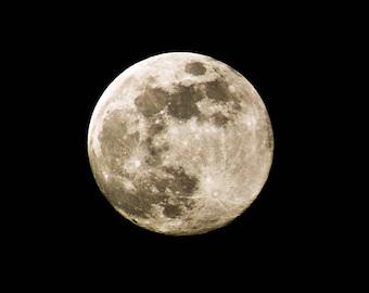 Full Moon Shining  Creative Photography Art Unframed