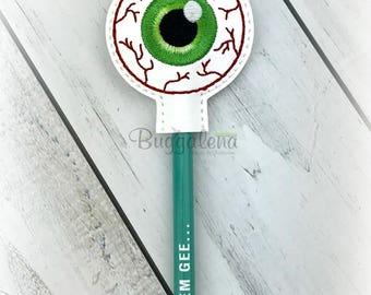 Creepy Eye Pencil Topper Embroidery Design