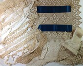 Lot of Antique hand crochet and commercial trims for repurposing