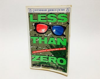Vintage Pop Culture Book Less Than Zero by Bret Easton Ellis 1985 First Edition Softcover