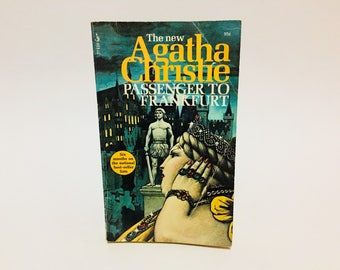 Vintage Mystery Book Passenger to Frankfurt by Agatha Christie 1972 Paperback