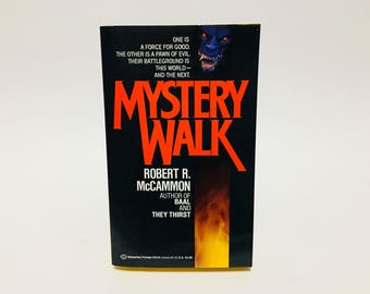 Vintage Horror Book Mystery Walk by Robert McCammon 1988 Paperback