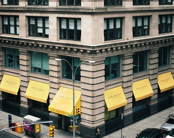 Yellow Intersection in Manhattan - Fine Art Photograph, NYC, Wall Art Print, Room Decor, Travel Photography, Buildings, Architecture, Urban