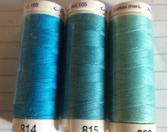 SALE three spools thread ,Mettler Silk finish, item 14
