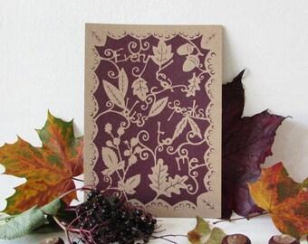 Every Leaf - papercut print