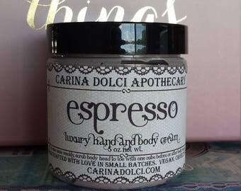 Espresso - Luxury Hand and Body Cream - Plant-Based - Vegan - Gluten Free