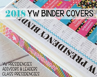 2018 YW Binder Covers, 2018 YW Theme Printables, Peace in Christ D&C 19:23, LDS Young Women, 2018 Mutual Theme - Printable Instant Download