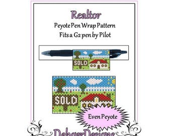 Peyote Beading Pattern (Pen Wrap/Cover)-Realtor