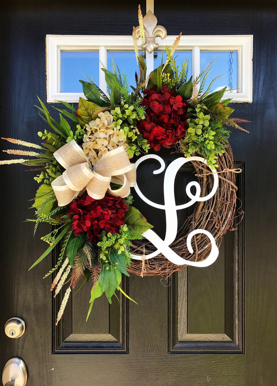 Attirant Front Door Wreath, Farm House Wreath, Fall Front Door Wreath, Year Round  Wreath