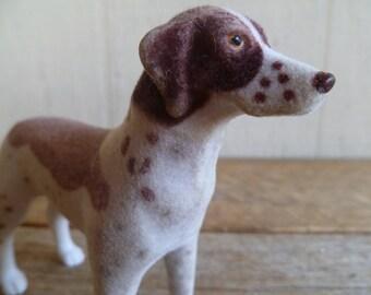 Vintage Springer Spaniel Flocked Miniature Figure