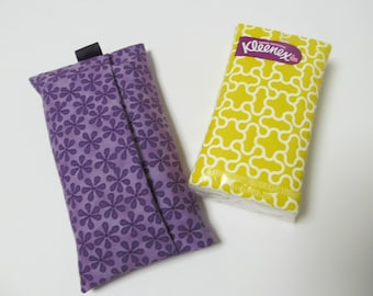 Tissue Case/Purple Flower