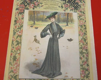 Magazine, Antique, Vintage, Fashions, Ads and Lots More: 1904, Le Moniteur De La Mode, French