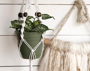 Small Plant Hanger - Small Macrame Plant Holder - Macrame Plant Holder - RV Plant Holder - Compact Plant Holder - Ceiling Plant Holder