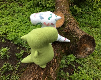 Plush Dinosaur made from Baby's Receiving Blanket - Baby Shower Gift - Baby's First Birthday - New Mom Gift  - Blanket Dino