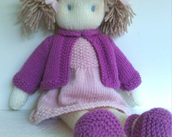 Doll Knitting Pattern Instant Download pdf