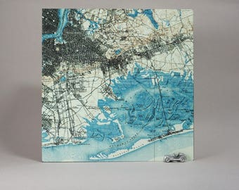 Brooklyn Queens New York Map Box Unique Office Decor Wall Art Moving New Job Housewarming Gift for Men or Women