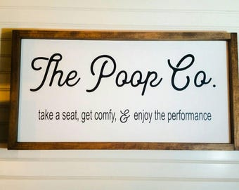 Bathroom Signs No Pooping funny bathroom signs | etsy