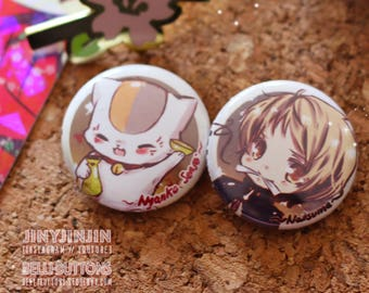 Natsume Book of friends buttons (2)