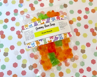 Fruit Punch Gummy Bear Jelly Soap