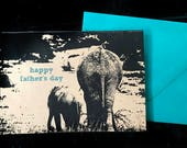 Happy Father's Day Elephants note card