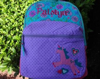 Personalized Stephen Joseph Girls Backpack, UNICORN Backpack, Girls Rucksack, Toddler Backpack, Preschool Backpack, Girls Book Bag